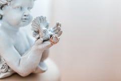 χρυσός γάμος δαχτυλιδιώ&nu Στοκ φωτογραφία με δικαίωμα ελεύθερης χρήσης
