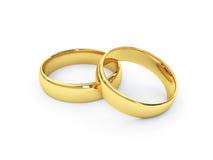 χρυσός γάμος δαχτυλιδιών Στοκ φωτογραφία με δικαίωμα ελεύθερης χρήσης