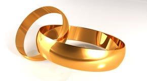 χρυσός γάμος δαχτυλιδιών διανυσματική απεικόνιση