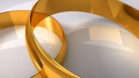 χρυσός γάμος δαχτυλιδιώ&nu διανυσματική απεικόνιση