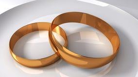 χρυσός γάμος δαχτυλιδιώ&nu απεικόνιση αποθεμάτων