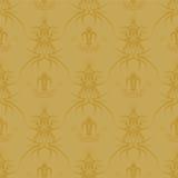 χρυσός γοτθικός επαναλ&alp απεικόνιση αποθεμάτων