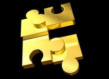 χρυσός γρίφος Στοκ Φωτογραφία