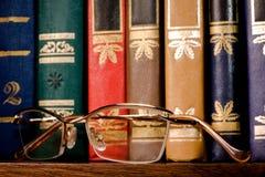 χρυσός γυαλιών πλαισίων Στοκ Εικόνες