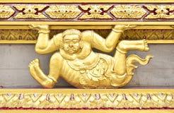 χρυσός διακοσμήσεων ubosoth Στοκ Εικόνα