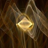 χρυσός διαμαντιών Στοκ φωτογραφία με δικαίωμα ελεύθερης χρήσης