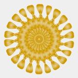 Χρυσός διαμορφωμένος ήλιος, χρυσό λουλούδι διανυσματική απεικόνιση