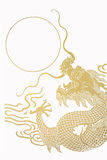 χρυσός δράκων Στοκ εικόνα με δικαίωμα ελεύθερης χρήσης