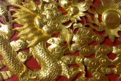 χρυσός δράκων Στοκ Εικόνες