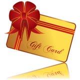 χρυσός δώρων καρτών Στοκ εικόνα με δικαίωμα ελεύθερης χρήσης