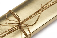 χρυσός δώρων κιβωτίων Στοκ Φωτογραφίες