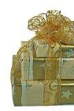 χρυσός δώρων στοκ εικόνες με δικαίωμα ελεύθερης χρήσης