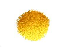 Χρυσός λεκές χρωμάτων σύστασης Συρμένο χέρι στοιχείο σχεδίου κτυπήματος βουρτσών Στοκ Εικόνα
