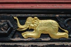Χρυσός ελέφαντας Στοκ φωτογραφίες με δικαίωμα ελεύθερης χρήσης