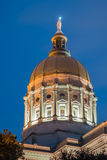 Χρυσός θόλος της Γεωργίας Capitol Στοκ Φωτογραφίες