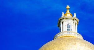 Χρυσός θόλος της Μασαχουσέτης Βουλή Στοκ Φωτογραφίες