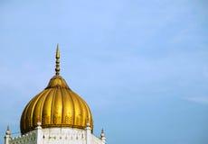 Χρυσός θόλος του μουσουλμανικού τεμένους στοκ εικόνες