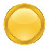 χρυσός Ιστός κουμπιών Στοκ Φωτογραφίες