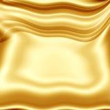 Χρυσός-κίτρινη σύσταση υφασματεμποριών Στοκ Εικόνες
