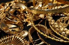 Χρυσός καθαρισμός απορρίματος στοκ φωτογραφίες