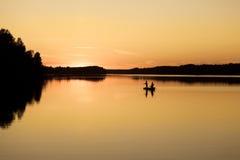 Χρυσός καθρέφτης Vuoksa Στοκ φωτογραφία με δικαίωμα ελεύθερης χρήσης