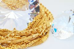 Χρυσός και διαμάντι Στοκ φωτογραφίες με δικαίωμα ελεύθερης χρήσης
