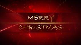 Χρυσός και κόκκινος 4K βρόχος Χαρούμενα Χριστούγεννας απεικόνιση αποθεμάτων