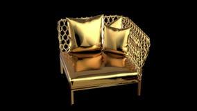 Χρυσός καναπές απόθεμα βίντεο