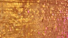 Χρυσός κατασκευασμένος τοίχος απόθεμα βίντεο