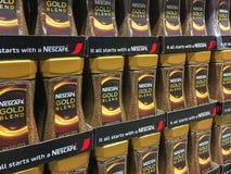 Χρυσός καφές μίγματος του Nescafe στοκ φωτογραφίες
