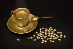 χρυσός καφέ Στοκ εικόνες με δικαίωμα ελεύθερης χρήσης