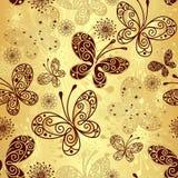 Χρυσός-καφετί άνευ ραφής πρότυπο Στοκ εικόνες με δικαίωμα ελεύθερης χρήσης