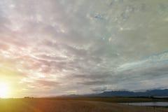 Χρυσός καλυμμένος ουρανός Heavanly Στοκ Εικόνες
