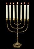 χρυσός κεριών menorah Στοκ φωτογραφίες με δικαίωμα ελεύθερης χρήσης