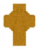 Χρυσός κελτικός σταυρός Στοκ Εικόνες
