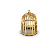 χρυσός κλουβιών Στοκ Εικόνες