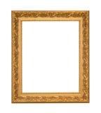 Χρυσός κομψός τρύγος πλαισίων που απομονώνεται στο άσπρο υπόβαθρο Στοκ Φωτογραφίες