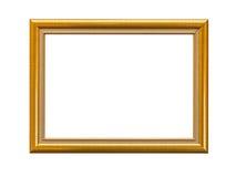 Χρυσός κομψός τρύγος πλαισίων που απομονώνεται στο άσπρο υπόβαθρο Στοκ Εικόνες