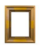 Χρυσός κομψός τρύγος πλαισίων που απομονώνεται στο άσπρο υπόβαθρο Στοκ φωτογραφίες με δικαίωμα ελεύθερης χρήσης