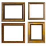 Χρυσός κομψός τρύγος πλαισίων που απομονώνεται στο άσπρο υπόβαθρο Στοκ εικόνες με δικαίωμα ελεύθερης χρήσης