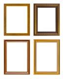 Χρυσός κομψός τρύγος πλαισίων που απομονώνεται στο άσπρο υπόβαθρο Στοκ φωτογραφία με δικαίωμα ελεύθερης χρήσης