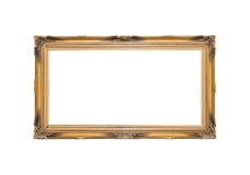 Χρυσός κομψός τρύγος πλαισίων που απομονώνεται στο άσπρο υπόβαθρο Στοκ εικόνα με δικαίωμα ελεύθερης χρήσης