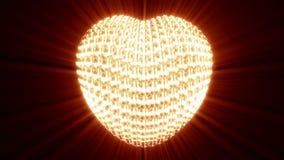 Χρυσός κτύπος της καρδιάς μαύρο σε ικανό στο βρόχο ελεύθερη απεικόνιση δικαιώματος