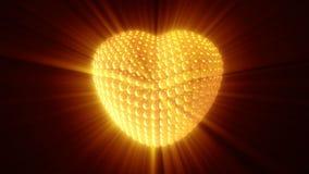 Χρυσός κτύπος της καρδιάς μαύρο σε ικανό στο βρόχο απεικόνιση αποθεμάτων