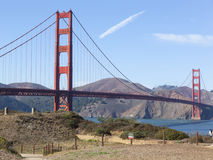Χρυσός κόλπος Καλιφόρνια του Σαν Φρανσίσκο γεφυρών πυλών Στοκ Εικόνα