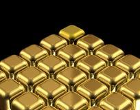 χρυσός κύβων Στοκ φωτογραφίες με δικαίωμα ελεύθερης χρήσης