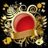 χρυσός κύκλος εμβλημάτων διανυσματική απεικόνιση