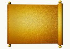 χρυσός κύλινδρος Στοκ Εικόνα