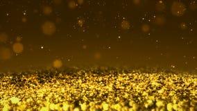 Χρυσός λαμπρός ακτινοβολεί άνευ ραφής στενό επάνω μακρο υπόβαθρο σύστασης βρόχων αφηρημένο απεικόνιση αποθεμάτων