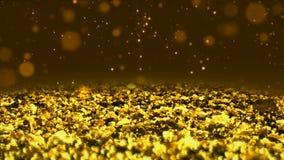 Χρυσός λαμπρός ακτινοβολεί άνευ ραφής στενό επάνω μακρο υπόβαθρο σύστασης βρόχων αφηρημένο ελεύθερη απεικόνιση δικαιώματος